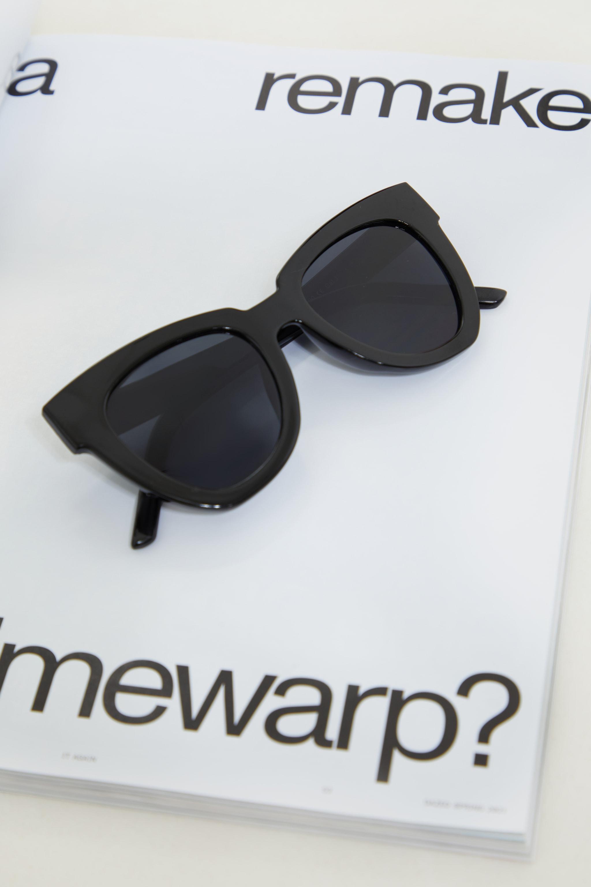 Black Winged Sunglasses 2