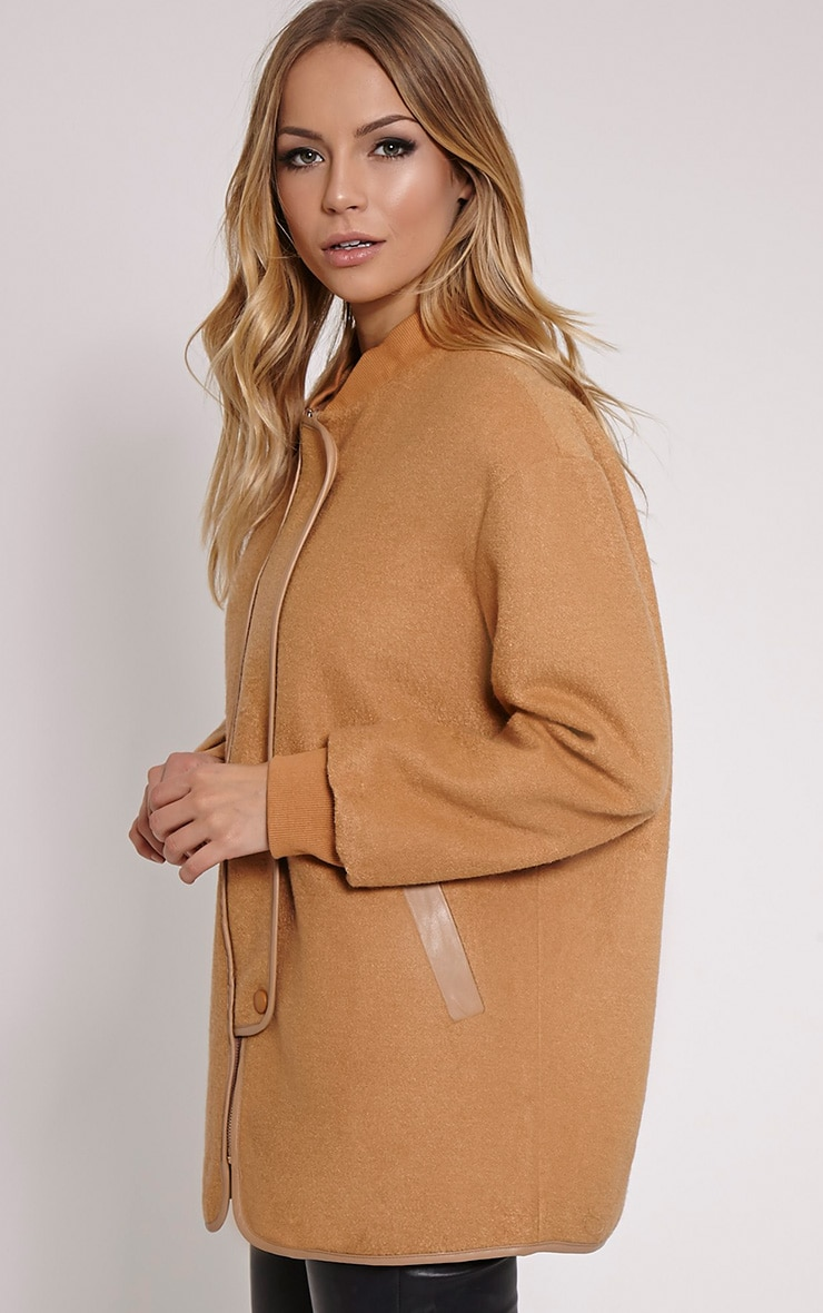 Alley Camel Longline Wool Bomber Jacket 4