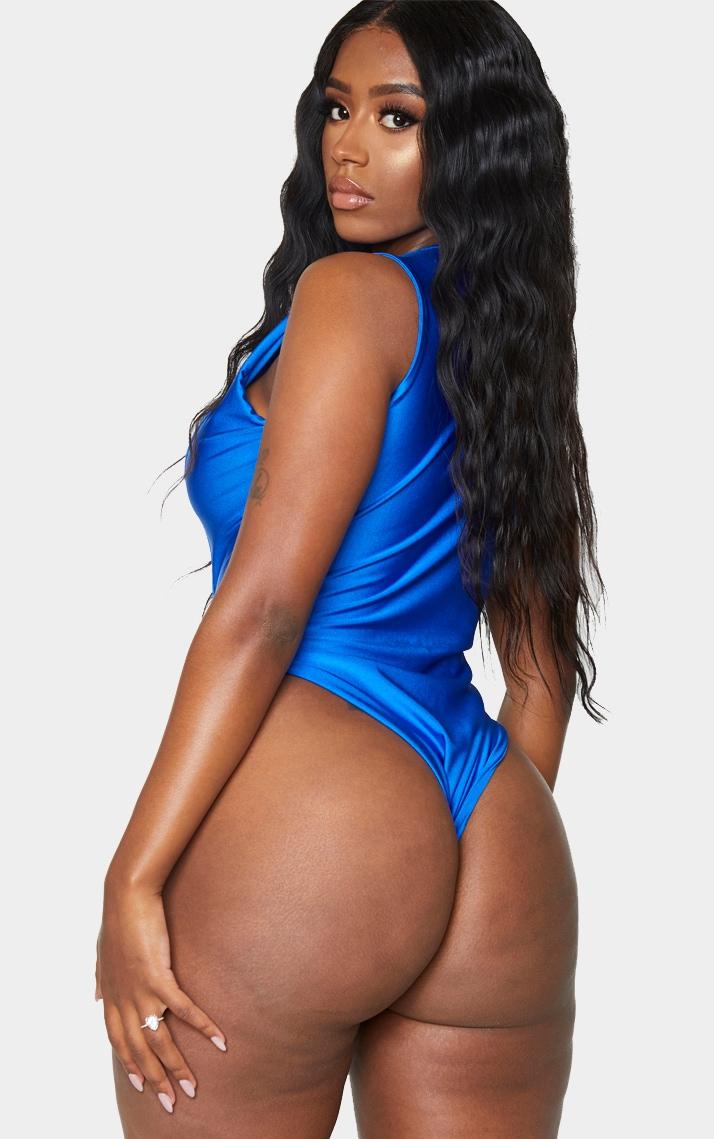 Shape Cobalt V Neck Buckle Waist Swimsuit 2
