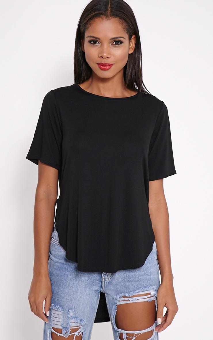 Ashby Black Strap Back Jersey T-Shirt 4