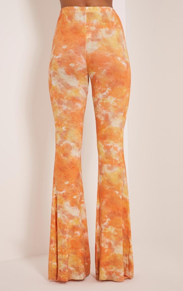 Jaida Orange Tie Dye Flares 6