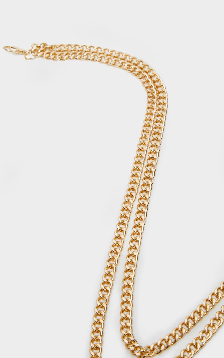 Gold Double Layer Plain Chain Belt 2