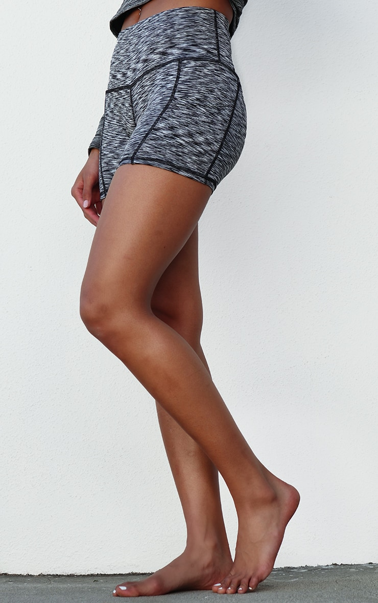 Charcoal Side Pocket Booty Short 2