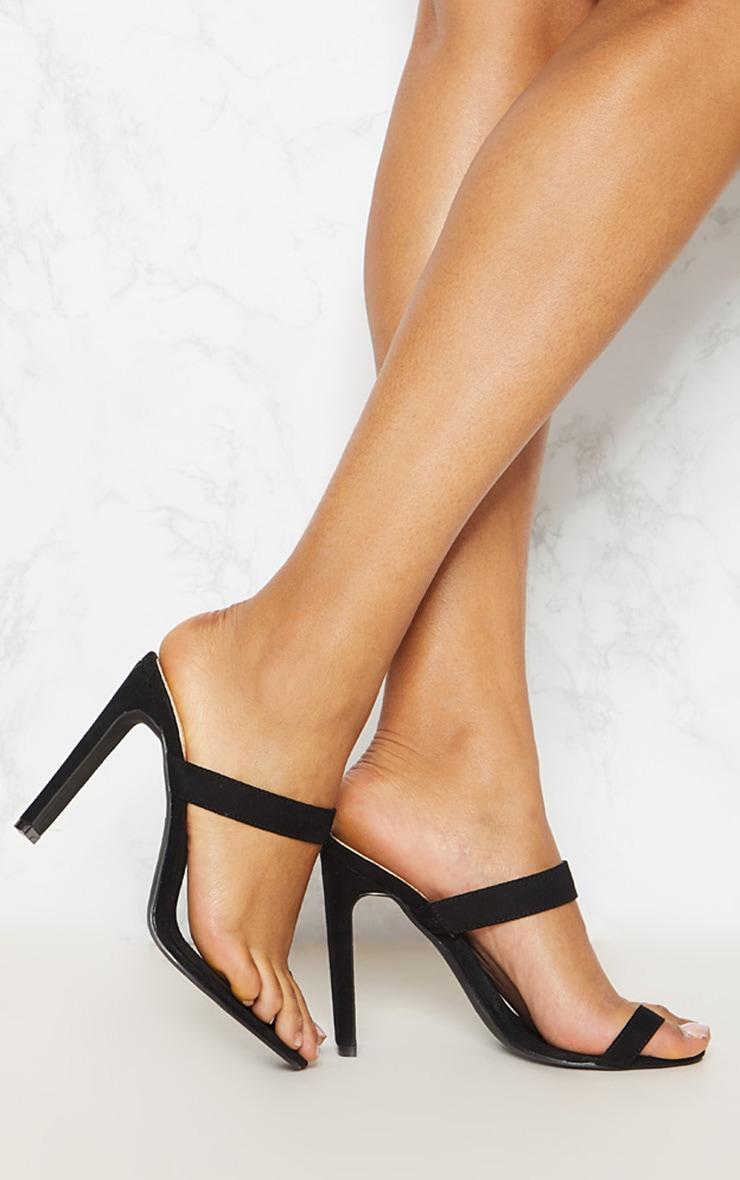 Sandales à talons noires à lanière sur l'orteille 2