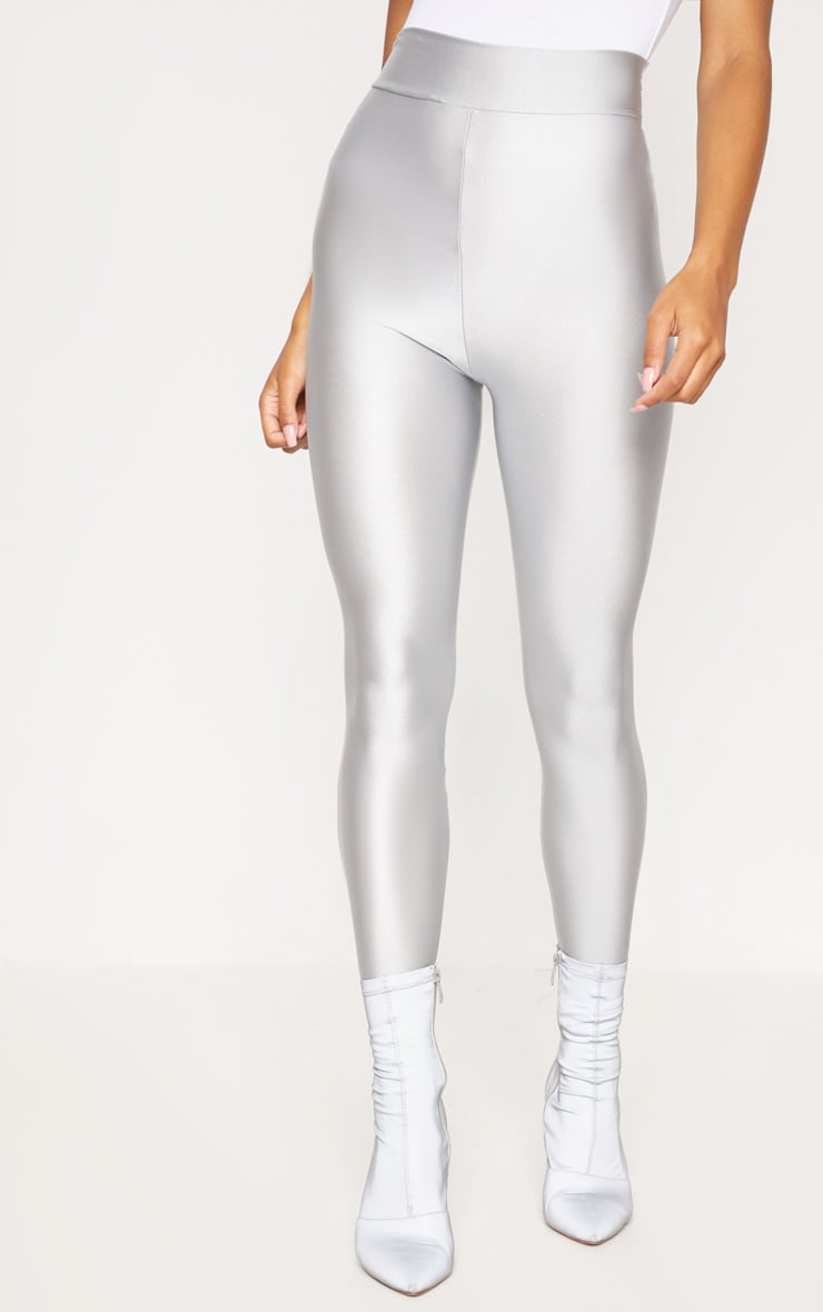 Silver Disco Highwaisted Leggings 2