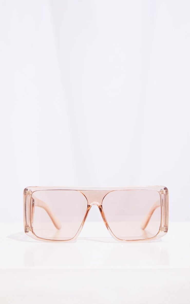 Brown Oversized Triple Lens Squareframe Sunglasses 2