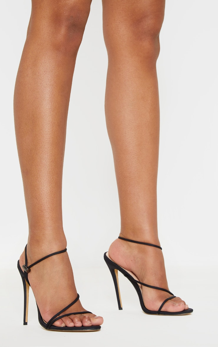 Black Toggle Tie Strappy Sandal 2