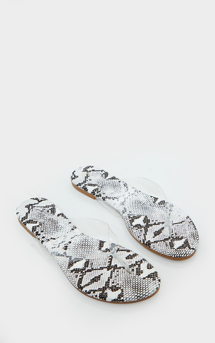 Snake Clear Toe Post Sandals 3