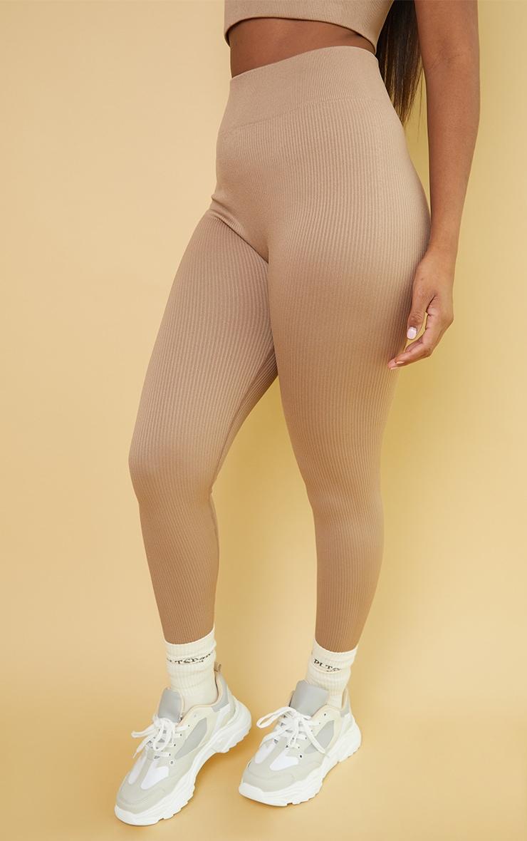 Nude Premium Ribbed Seamless Legging 2