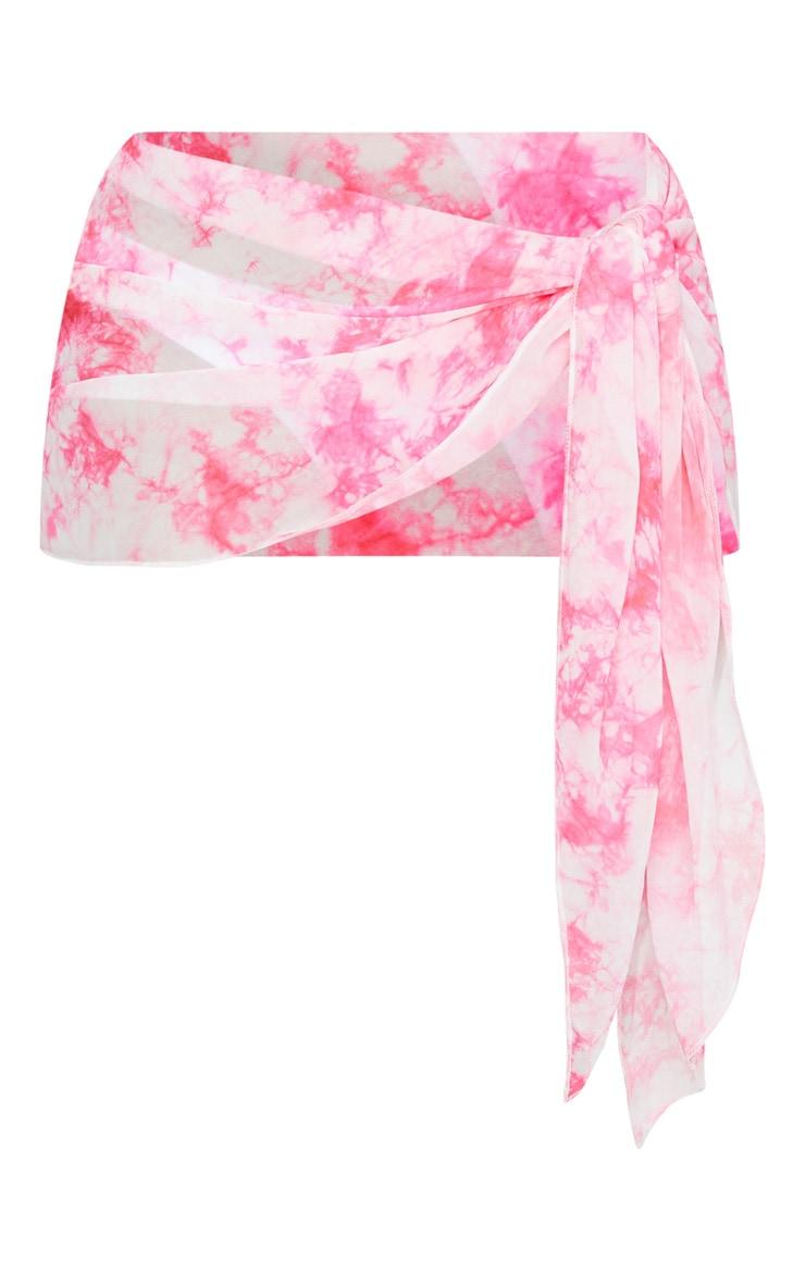 Shape Pink Tie Dye Sarong 6