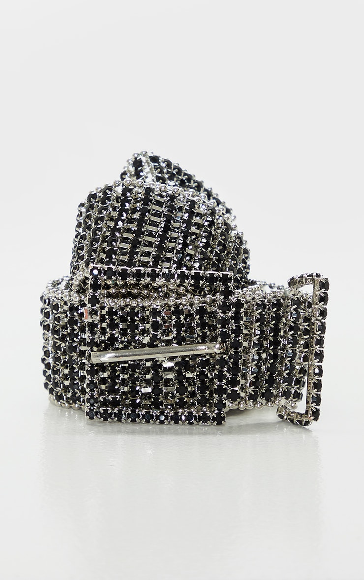 Black Diamante Chain Link Belt 2
