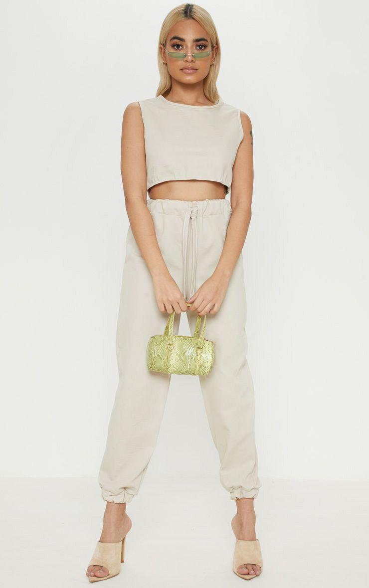 Petite Stone Elastic Waist Jogger Trouser 1