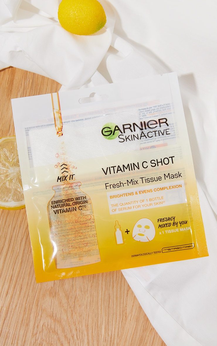 Garnier Fresh-Mix Brightening with Vitamin C Sheet Mask 1
