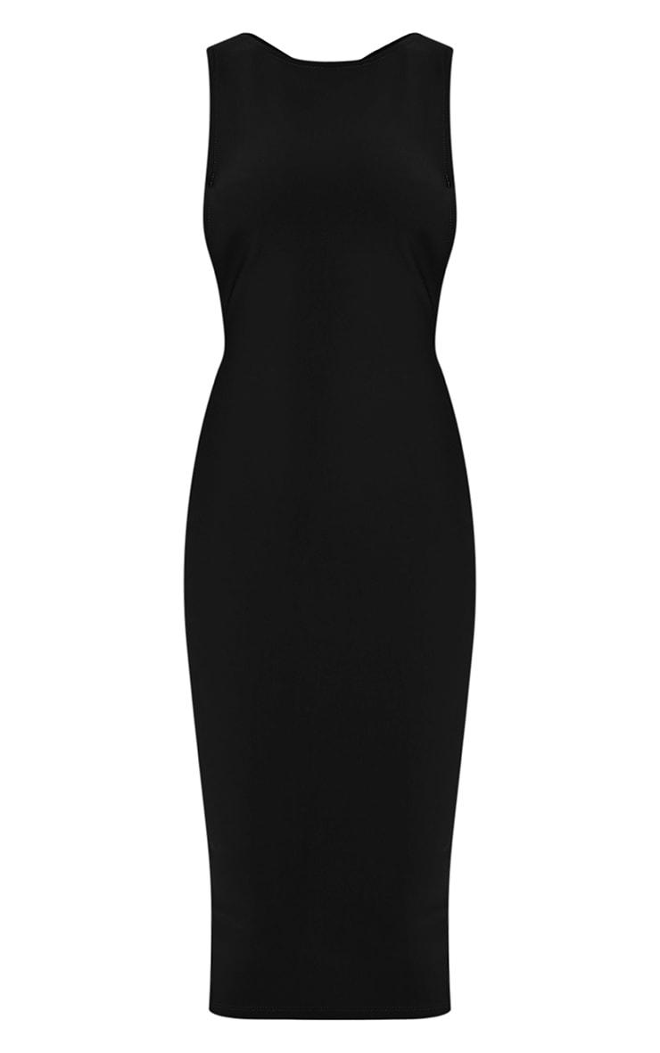 Rima Black Strappy Cut Out Midi Dress 3