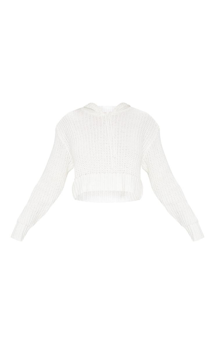 Hoodie en tricot ivoire 3