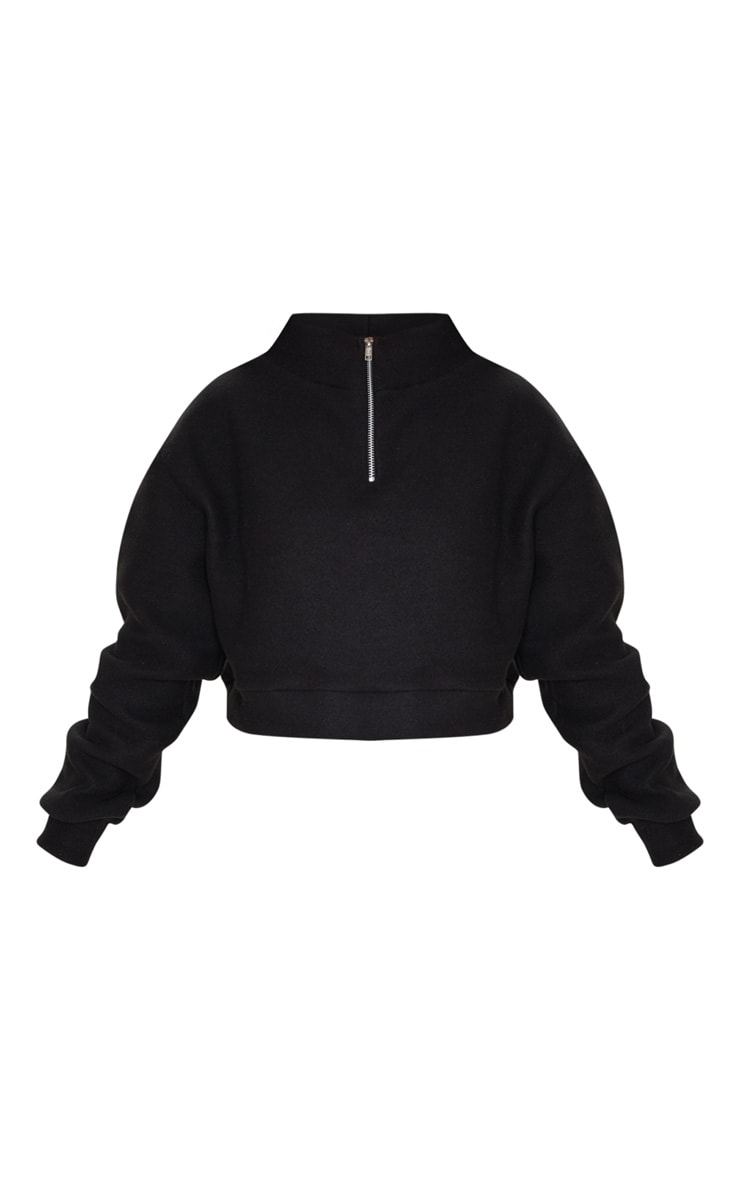 Petite Black Half Zip Sweater 4