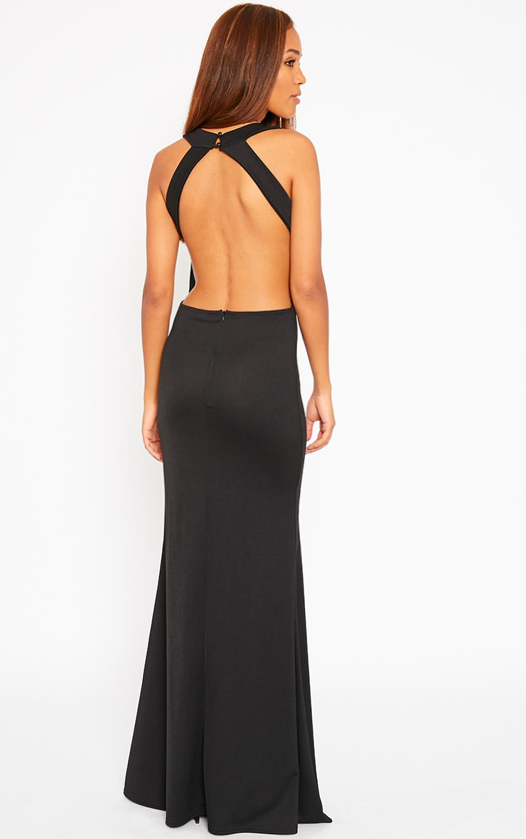 Brandy Black Plunge Maxi Dress 4