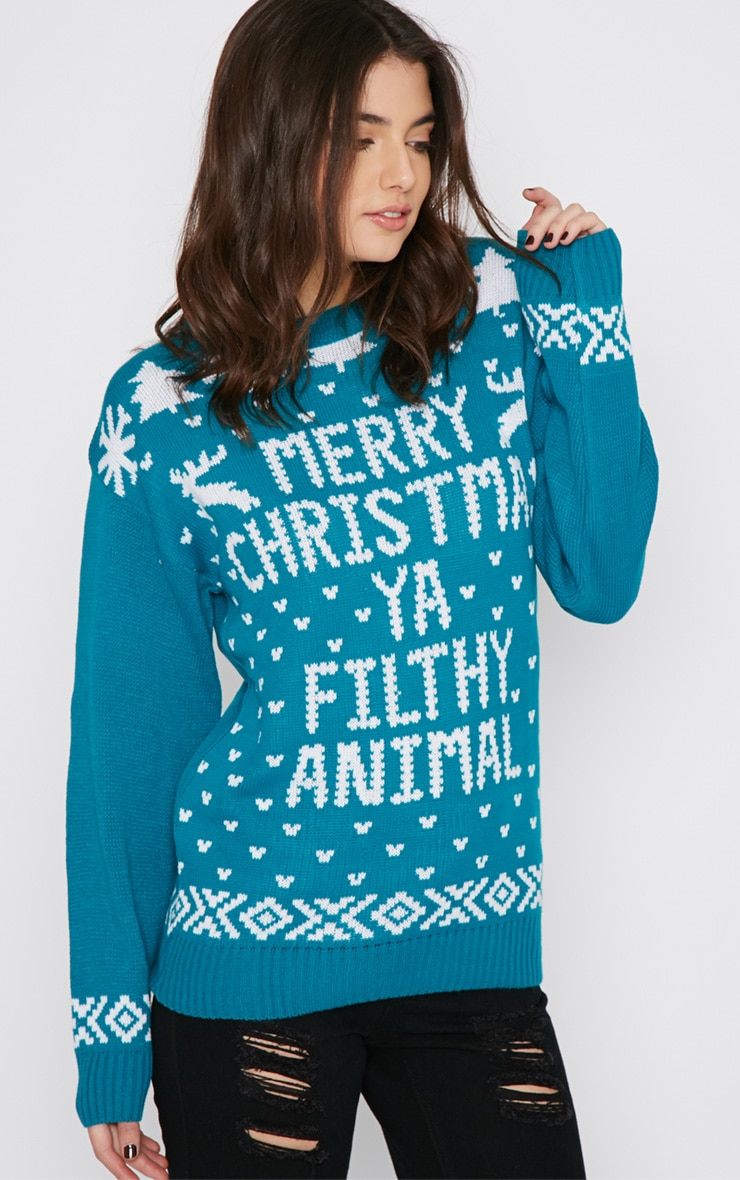 Sarah Green Filthy Animal Christmas Jumper 4
