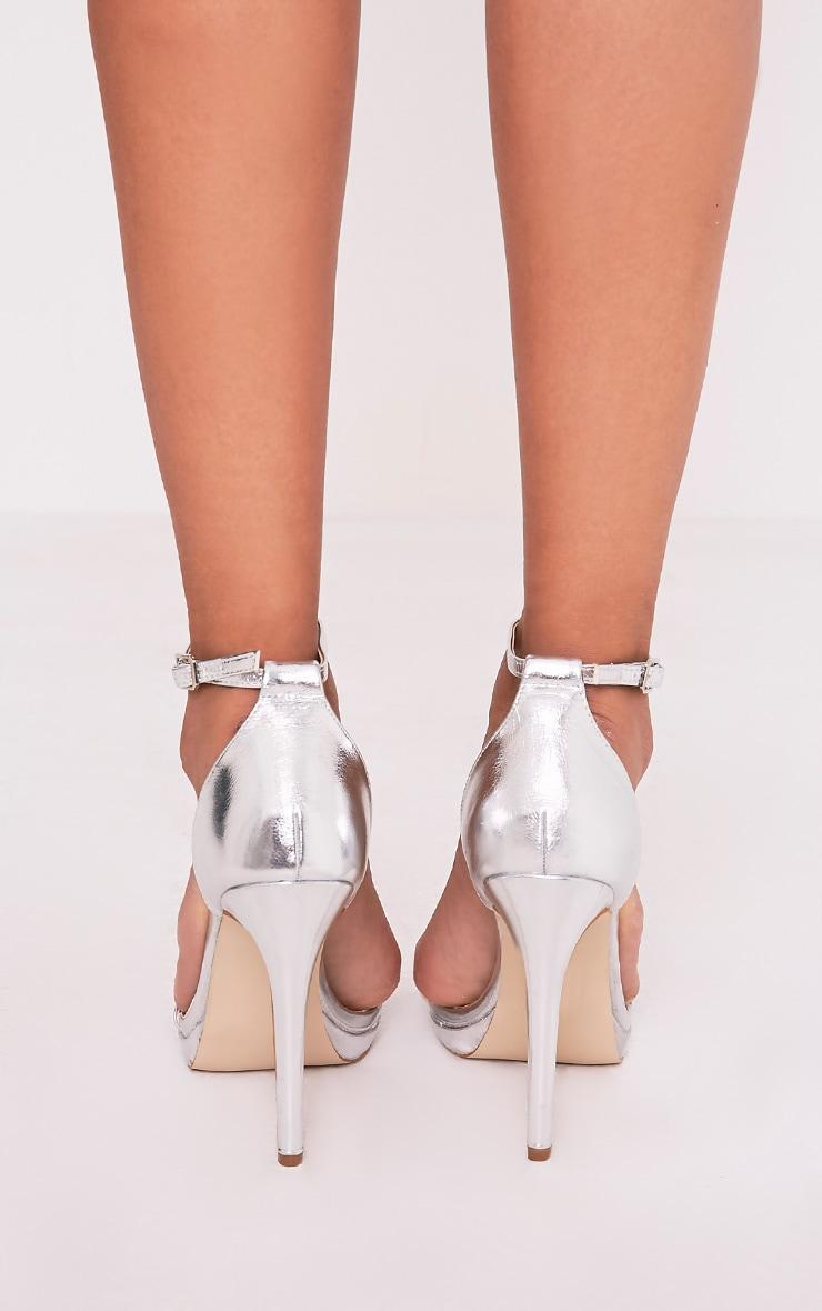 Enna sandales à talons à bride unique argent 4
