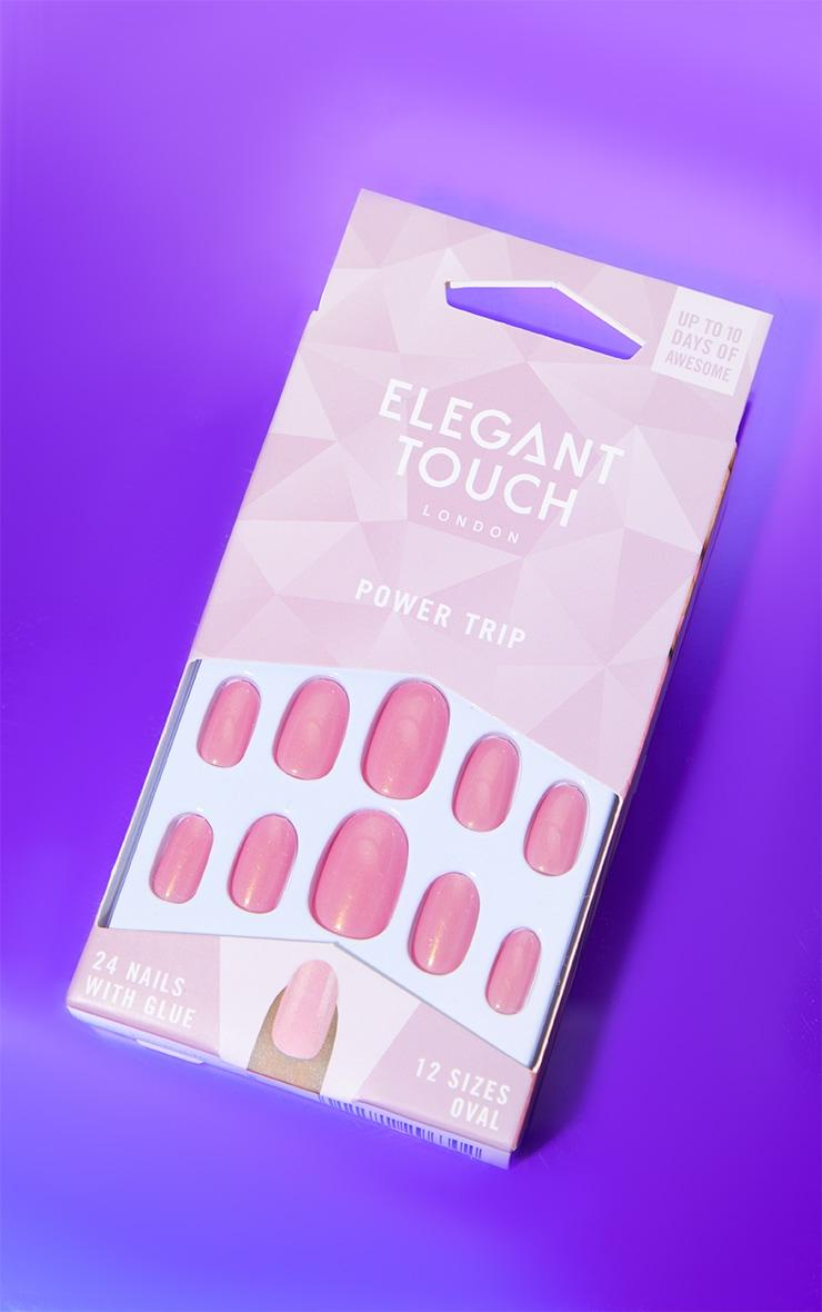 Elegant Touch Power Trip Long Oval False Nails 1