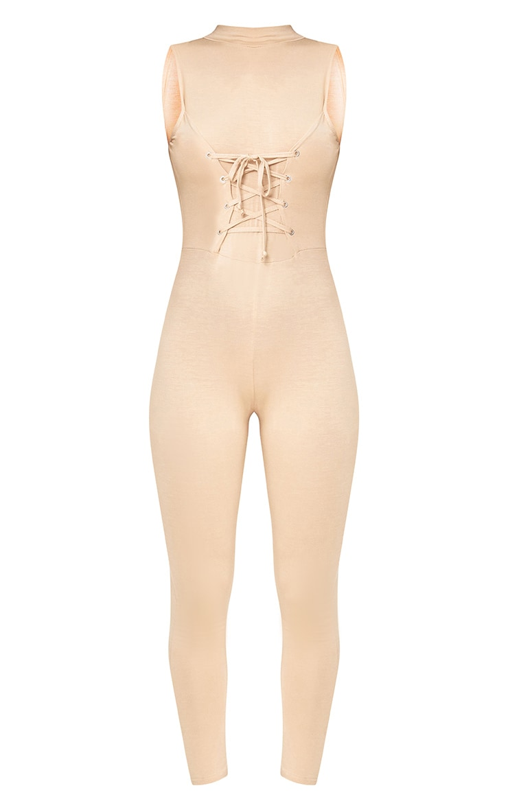 Amani Nude Corset Front Jersey Jumpsuit  3