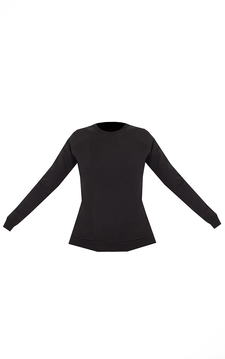 Recycled Basic Black Slim Sweatshirt 5