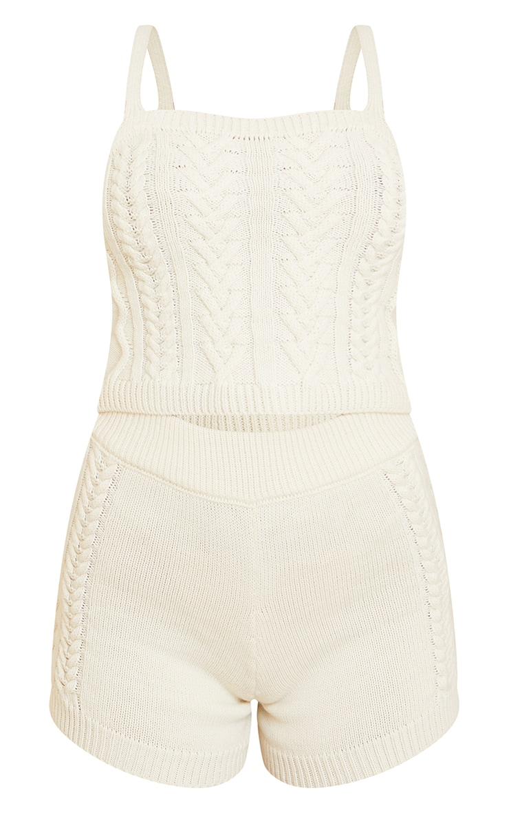 Cream Cable Knitted Bralet Set 5