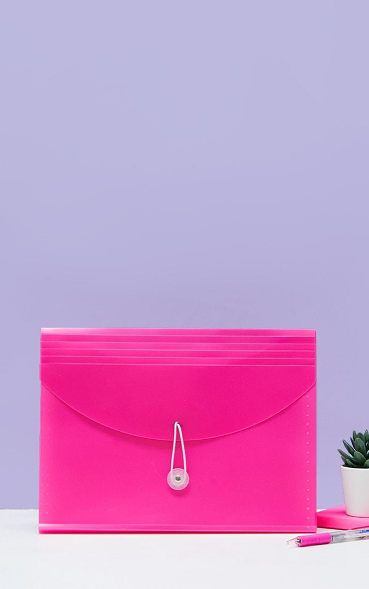 Pink 5 Pocket Expanding Folder 1
