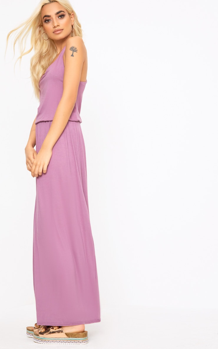 Mauve Bagged Over Maxi Dress 3