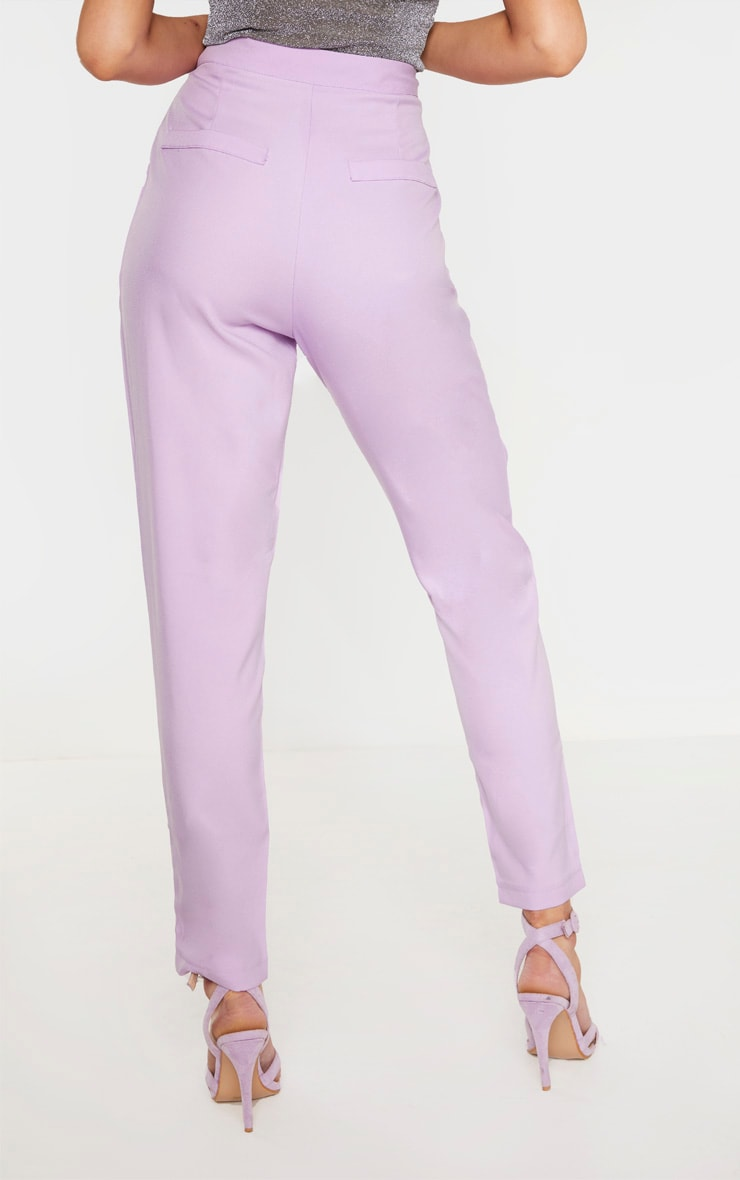 Tall Lilac Fitted Trousers 4