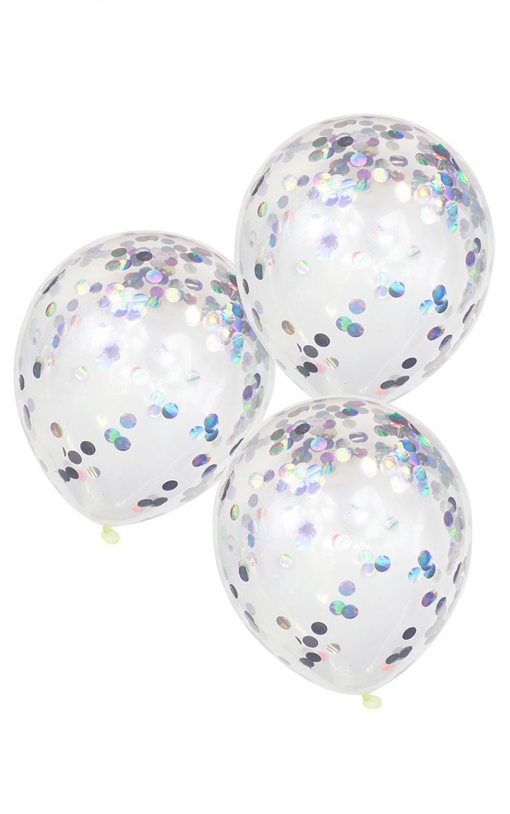 GINGER RAY Iridescent Confetti Balloons Pastel Party 1