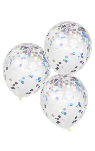 GINGER RAY Iridescent Confetti Balloons Pastel Party