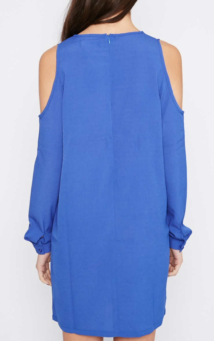 Genny Cobalt Cut Out Shoulder Dress 2