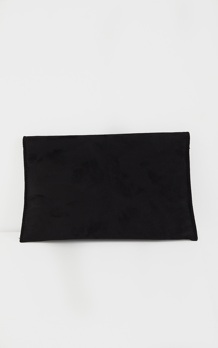 Black Envelope Clutch Bag 3