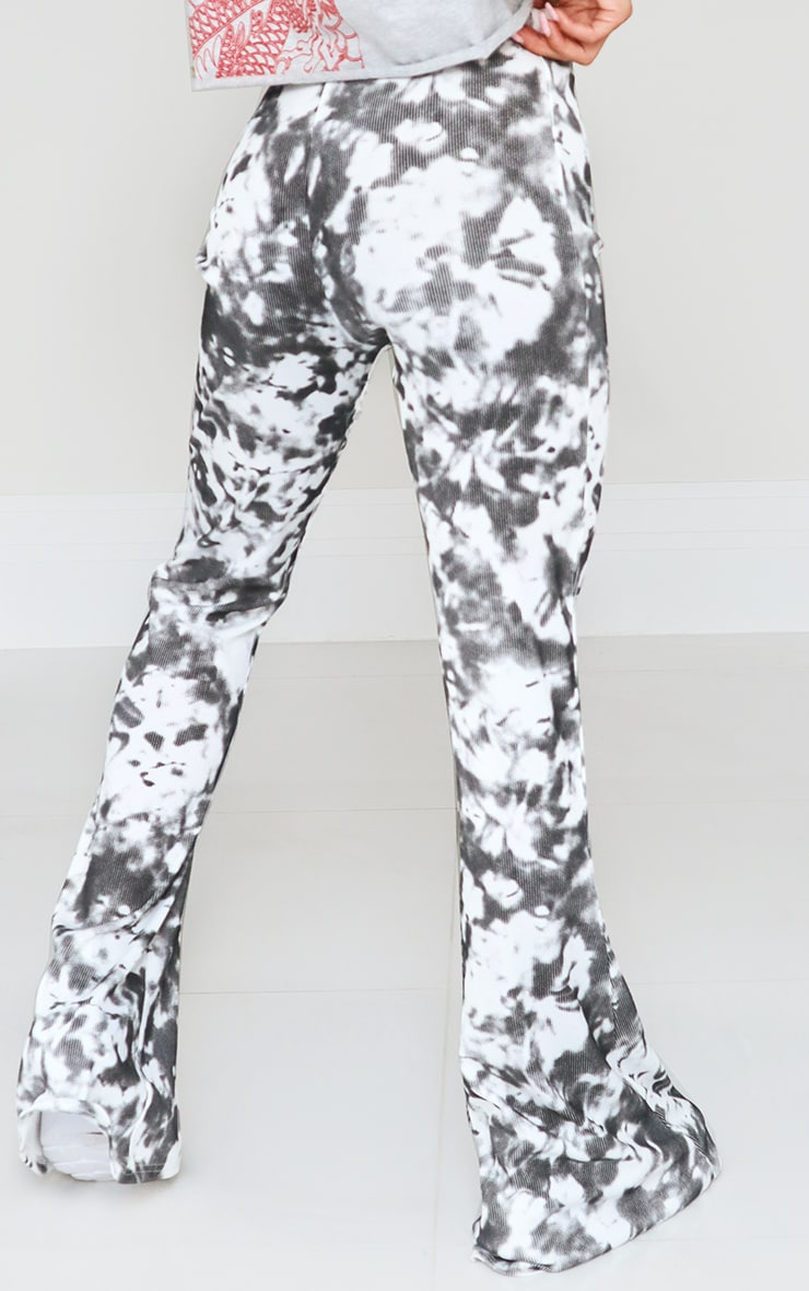 Black Flared Tie Dye Pants 3