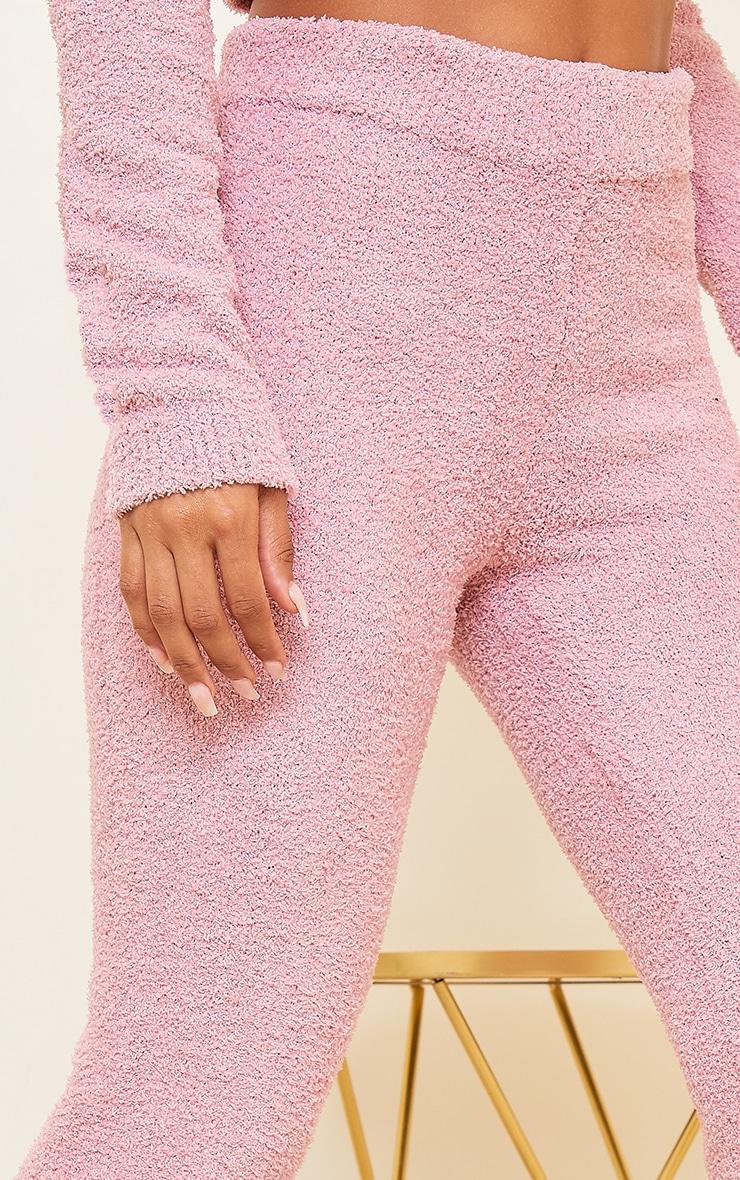 Blush Premium Fluffy Knitted Legging 4