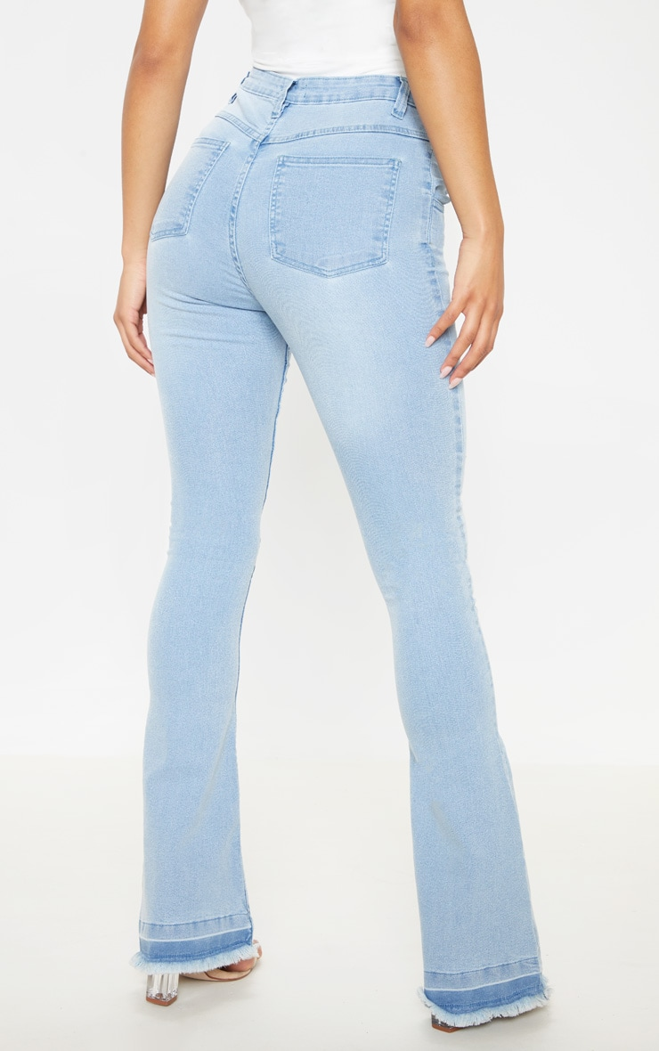 Flared Light Wash Jean 4