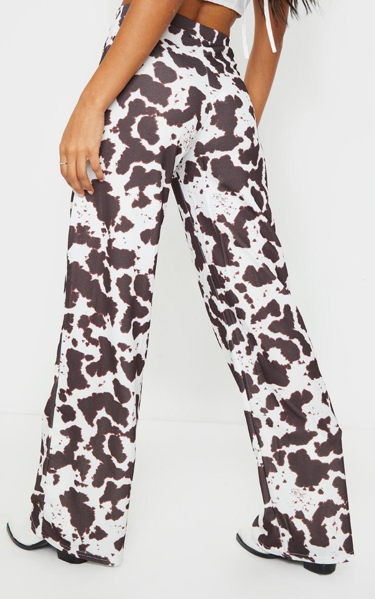 Cow Print Wide Leg Pants 3