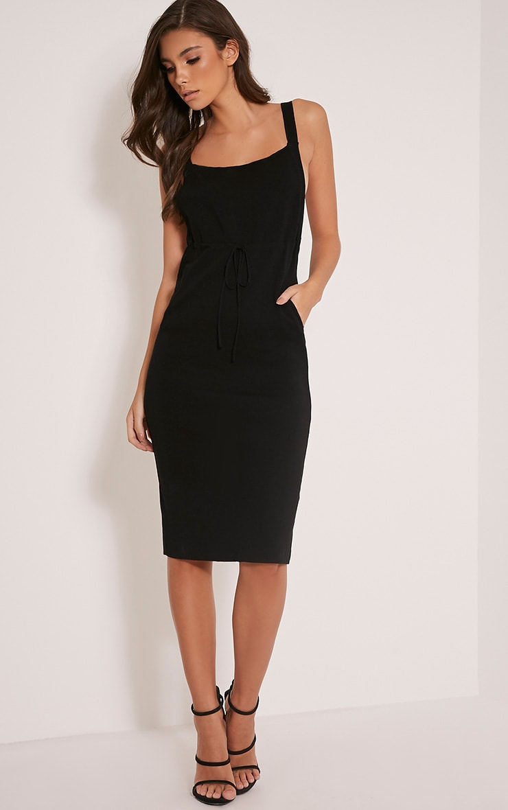 Aideen Black Knitted Pinafore Dress 5