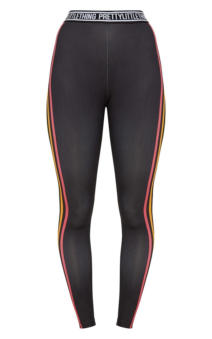 Black Multi Stripe Sports Leggings  4