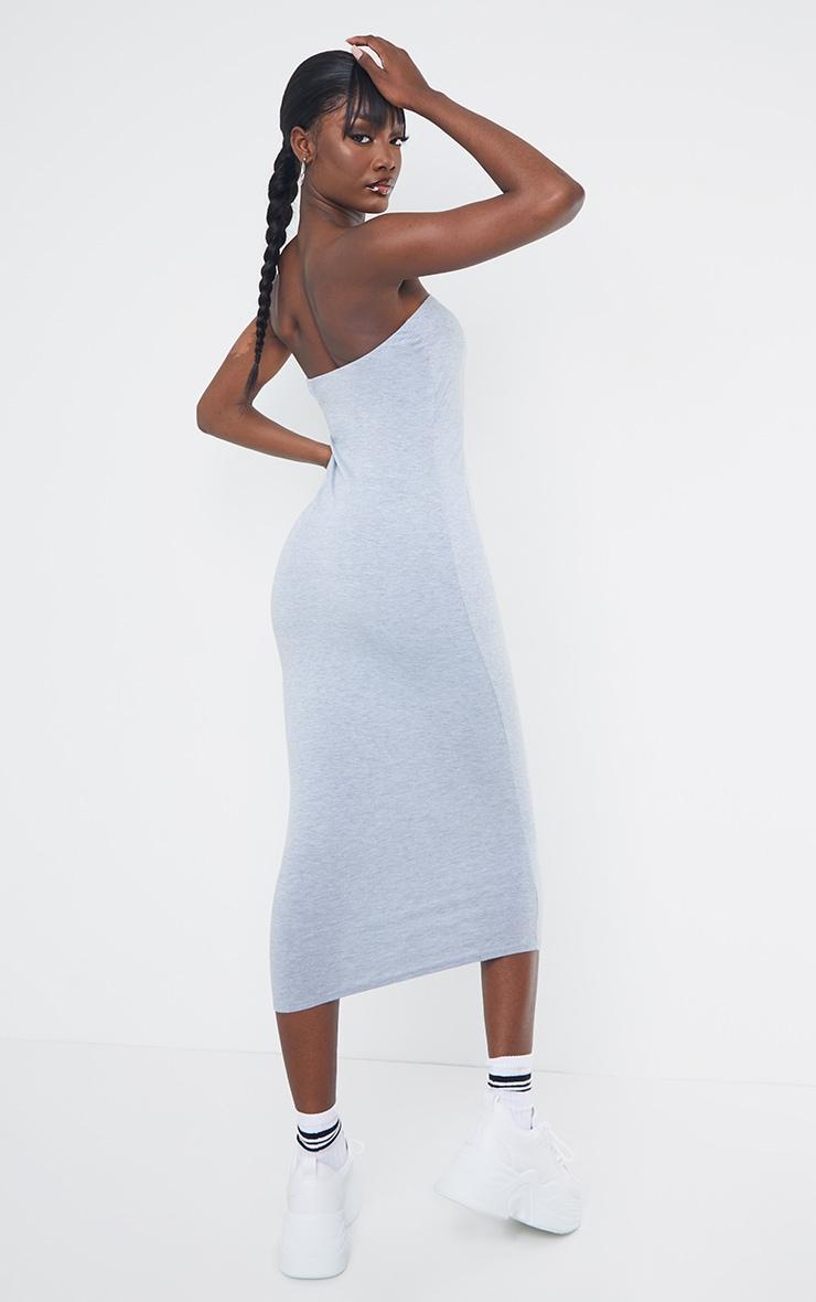 Tall Grey Bandeau Jersey Midi Dress 3