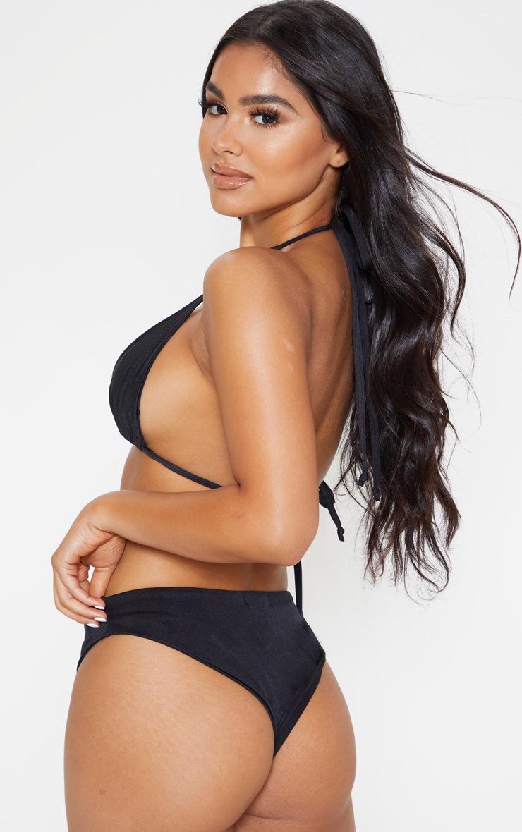 Petite Black Mix & Match Triangle Bikini Top 2