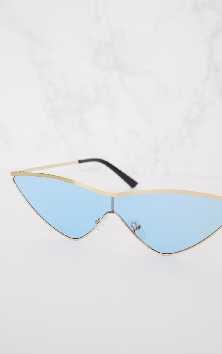 Light Blue Extreme Cat Eye Sports Sunglasses 4