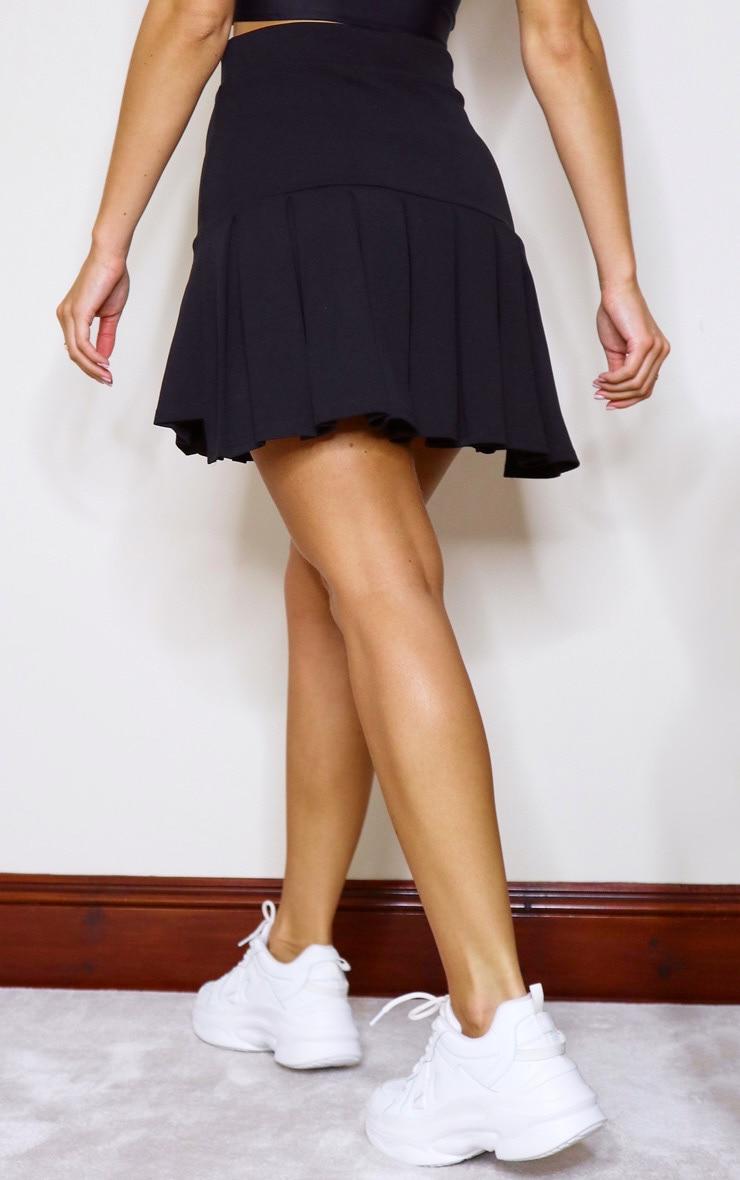 Black Pleated Step Hem Mini Skirt 3