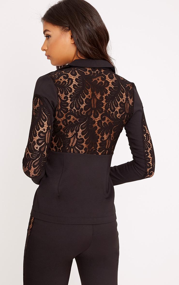 Mikaylah Black Lace Insert Detail Suit Jacket 2