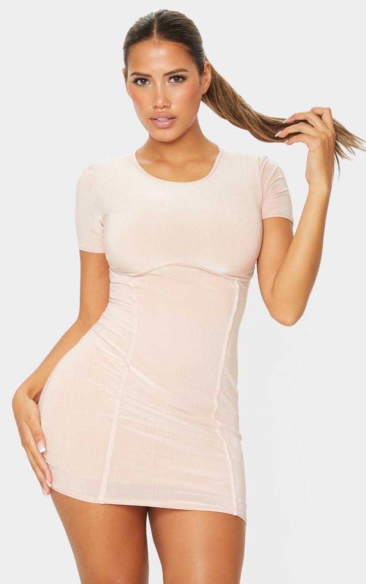 Shape Stone Slinky Underbust Detail Bodycon Dress 3