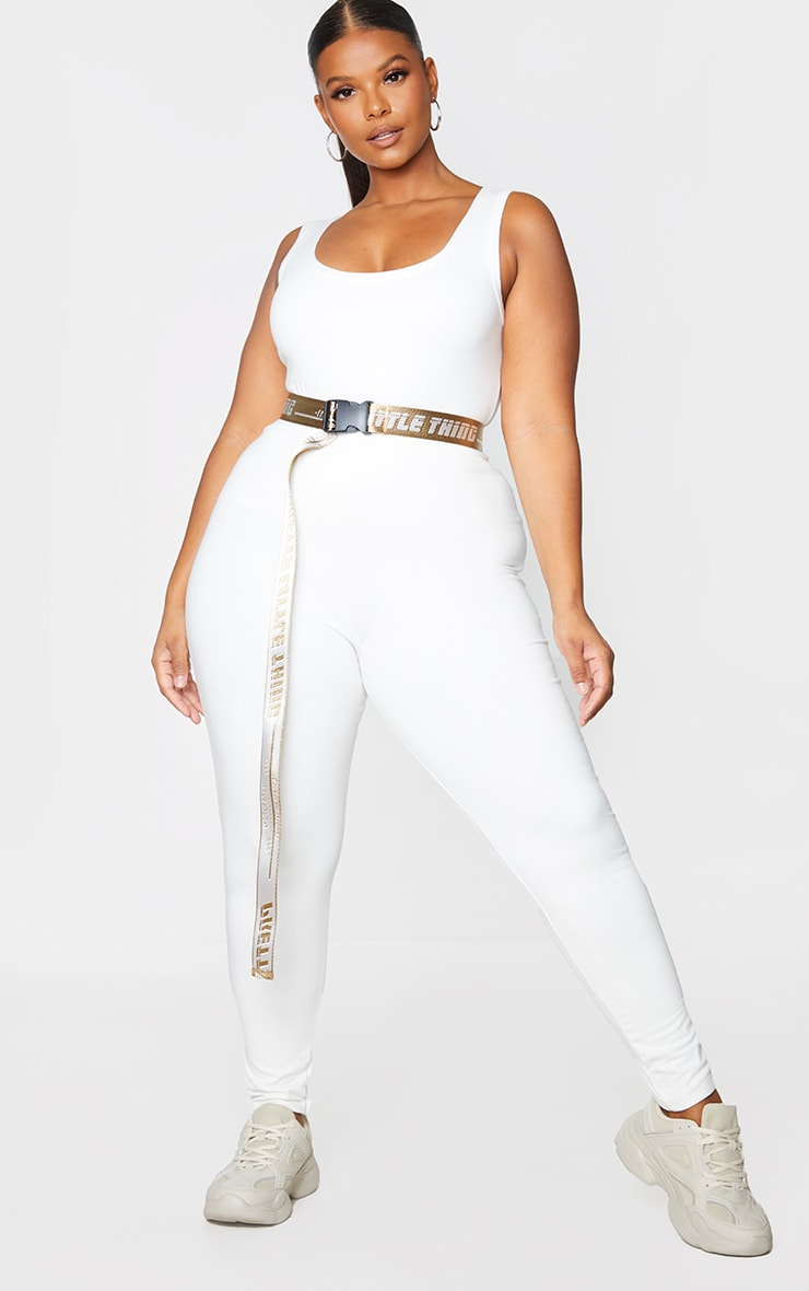 PRETTYLITTLETHING Plus Stone Reversible Taping Belt 1
