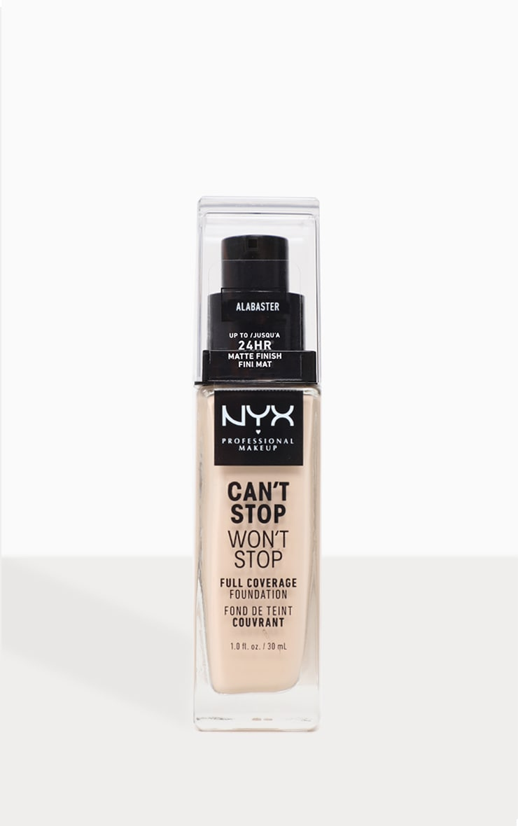 NYX PMU Can't Stop Won't Stop Full Coverage Foundation Alabaster 1