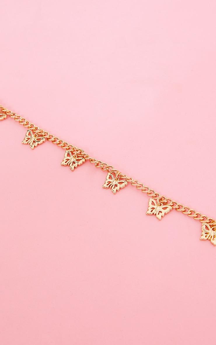 Gold Dainty Multi Butterfly Anklet 3