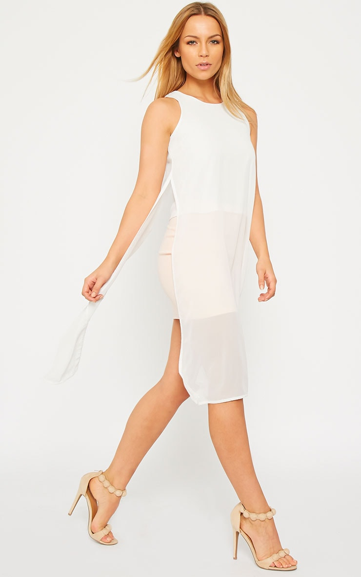 Cecile Cream Sleeveless Chiffon Top 1